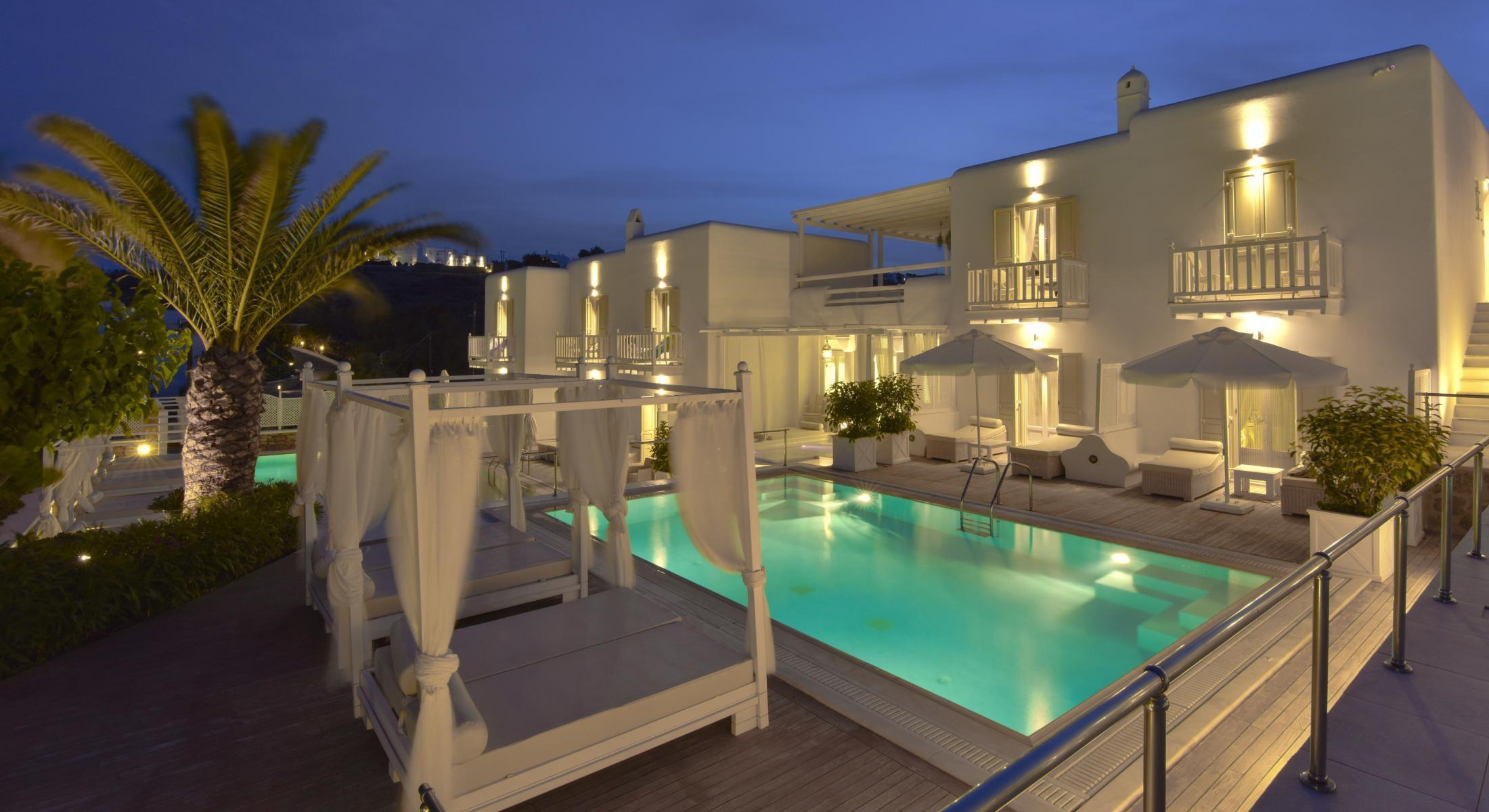 La Résidence Mykonos Hotel Suites ***** | Hôtel 5 Étoiles ... destiné Hotel Piscine Privée