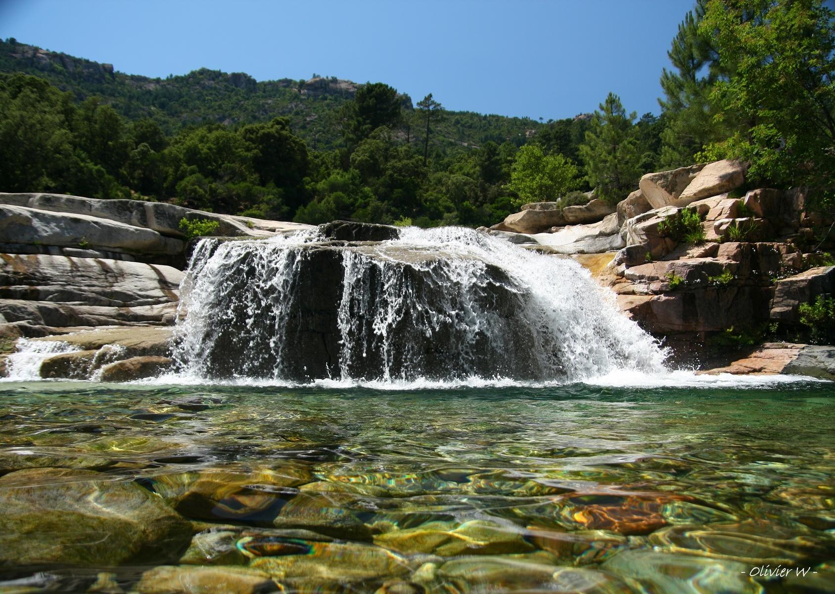 La Rivière Du Cavu Et Ses Piscines Naturelles - Vivacorsica avec Piscine Naturelle D Eau Chaude Corse Du Sud