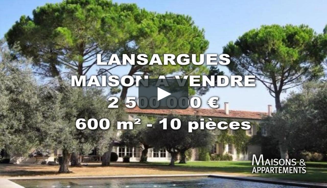 Lansargues - Maison A Vendre - 2 500 000 € - 600 M² - 10 Pièces intérieur Piscine Lansargues
