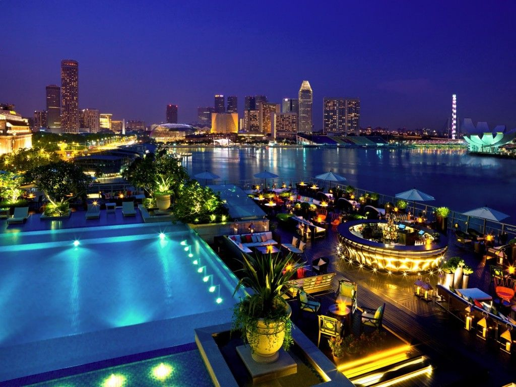 Lantern - Fullerton Bay Hotel - Singapour - Piscine, Rooftop ... concernant Piscine Singapour