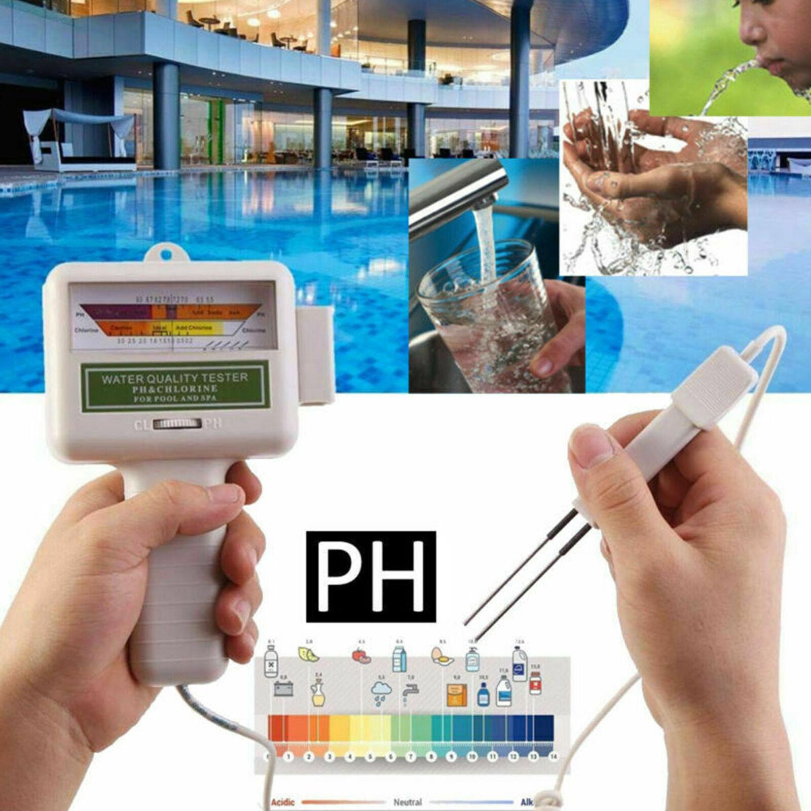 Lc_ Digital Eau Testeur Ph Chlore Niveau Mètre Moniteur Spa ... pour Testeur Piscine