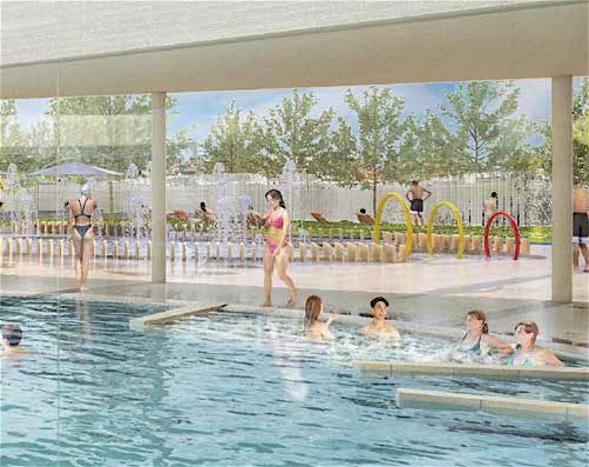 Le Chantier De Centre Aquatique Initié En 2017 Avance À ... tout Piscine Saint Paul Les Dax