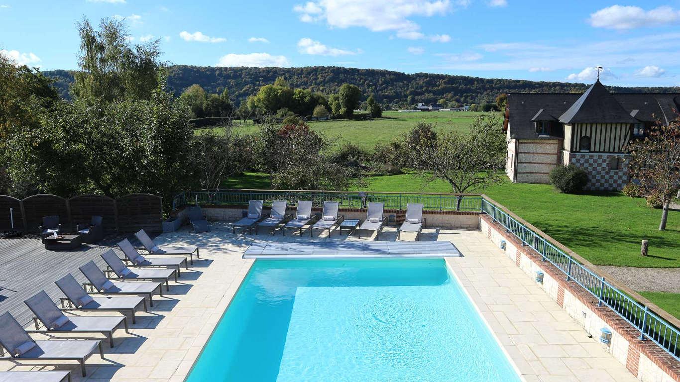 Le Clos Des Fontaines | Hotel Spa Normandie - Hotel Luxe ... dedans Hotel Avec Piscine Normandie