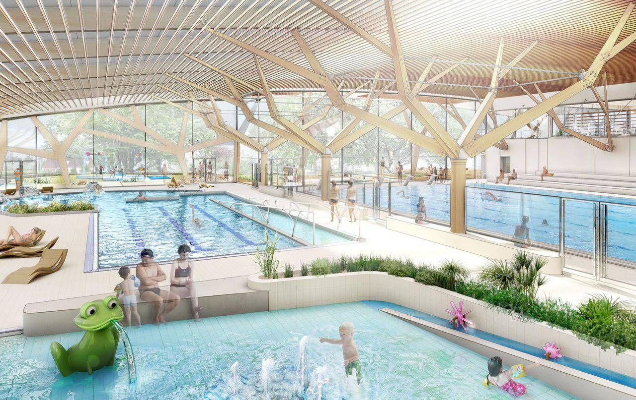 Le Futur Centre Aquatique Intercommunal De Milly-La-Forêt A ... serapportantà Piscine Milly La Foret