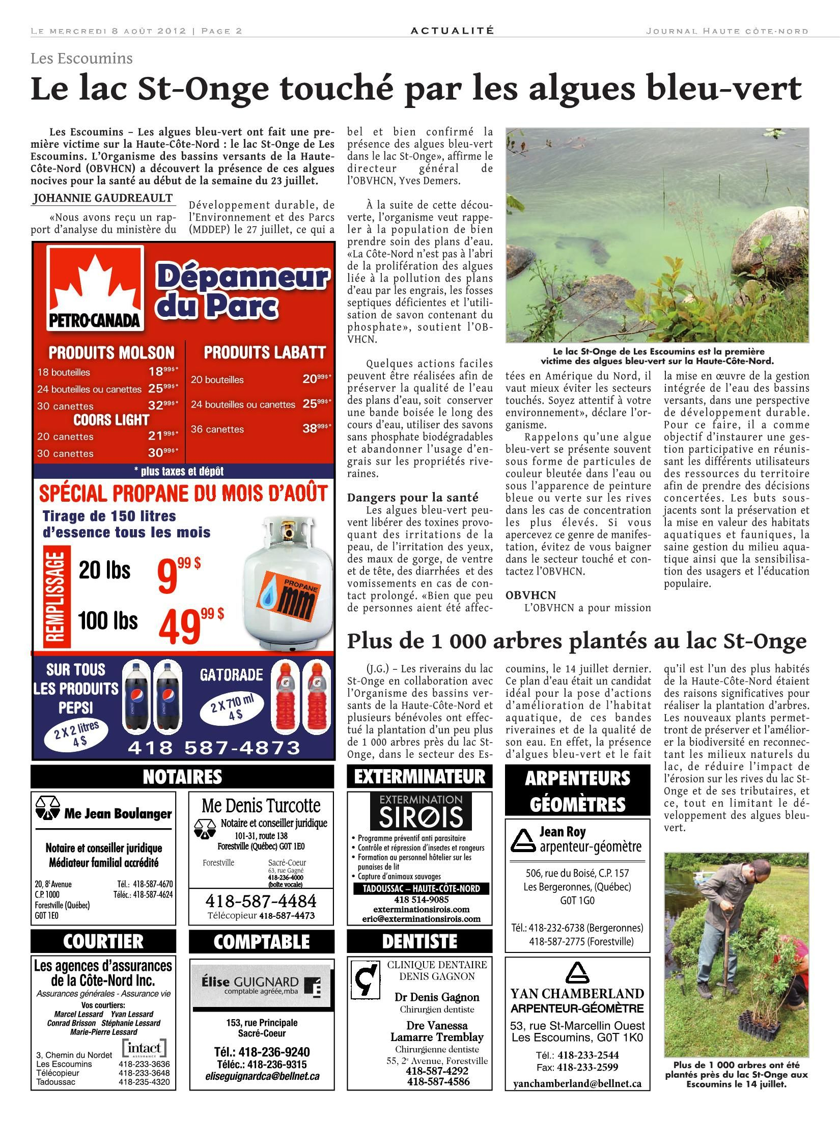 Le Haute-Côte-Nord 08 Aout 2012 Pages 1 - 40 - Text Version ... destiné Cash Piscine Bourgoin
