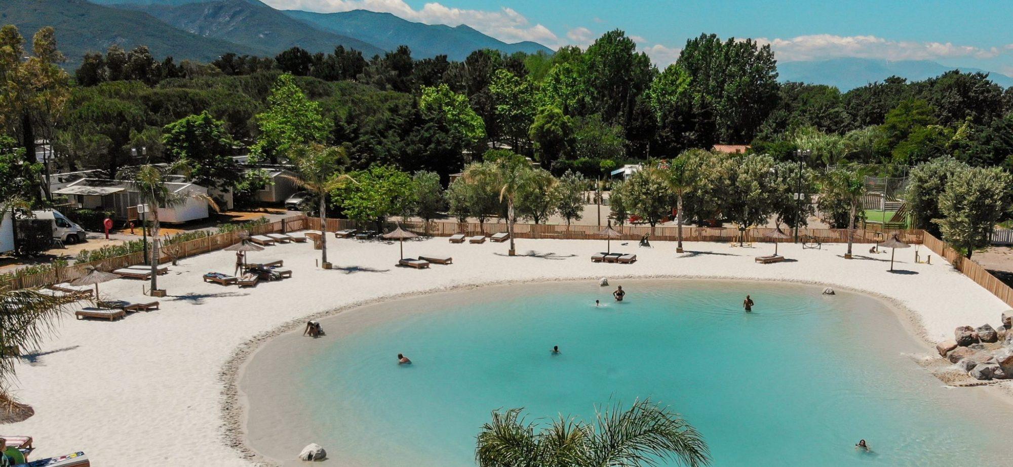 Le Lagon : Camping 4 Étoiles À Argelès-Sur-Mer (Pyrénées ... pour Camping Bord De Mer Mediterranee Avec Piscine