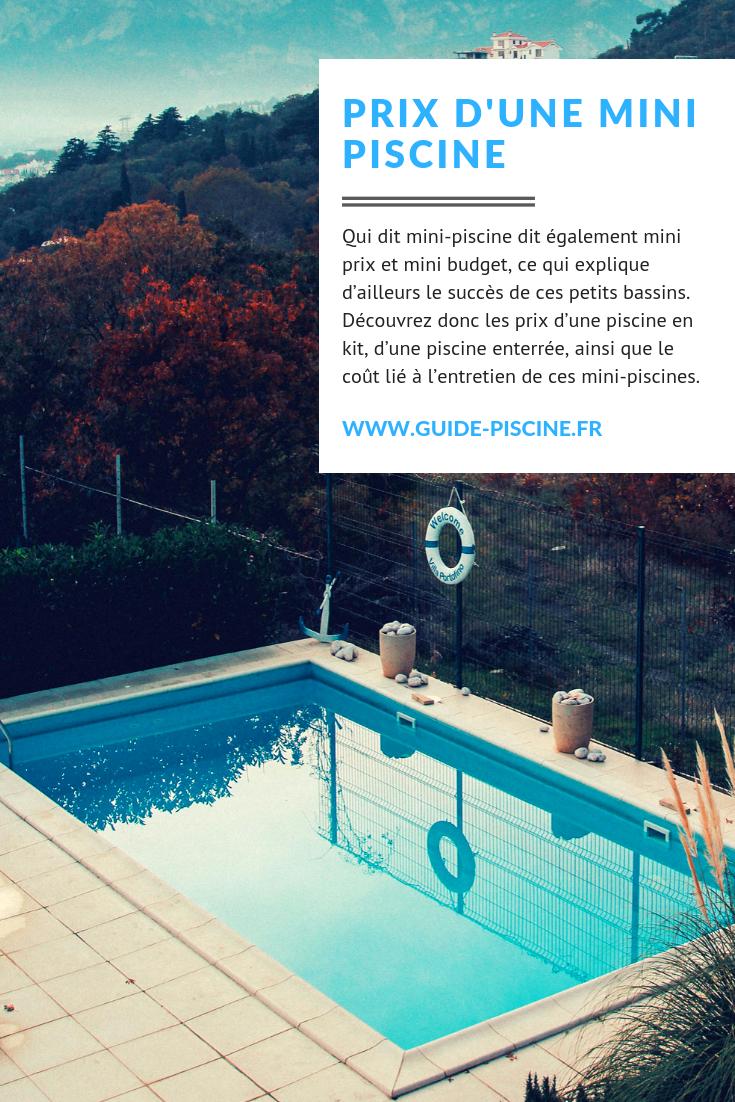 Le Prix D'une Mini-Piscine | Mini Piscine, Prix Piscine Et ... avec Cout Entretien Piscine