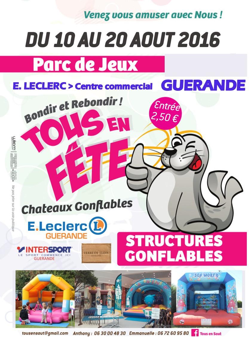 Leclerc Guérande   Tous En Saut intérieur Leclerc Piscine Gonflable