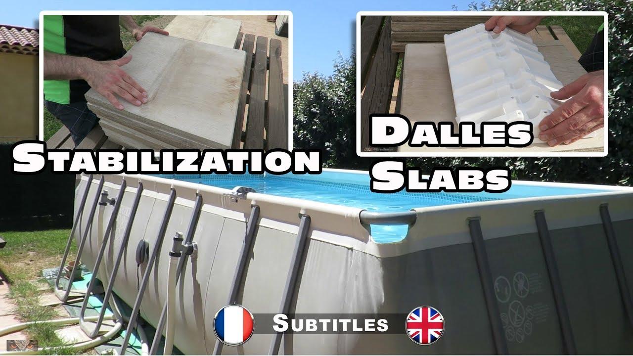 Les Dalles De Stabilisation Pour Piscines Hors Sol Rectangulaires concernant Dalle Sous Piscine Hors Sol
