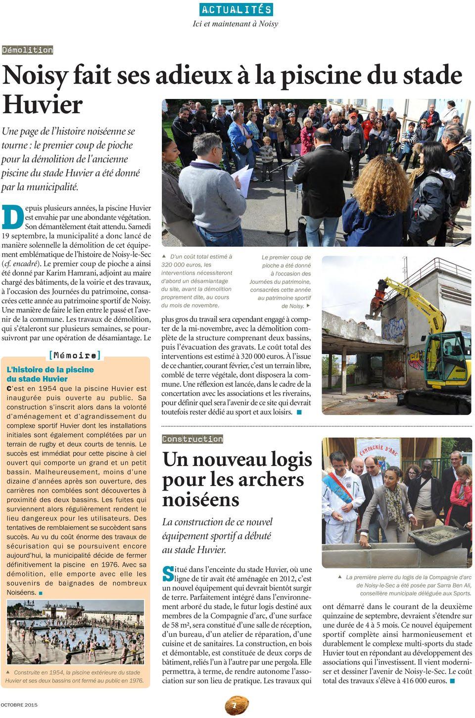 Les Rmations Municipales De La Ville De Noisy-Le-Sec. Du ... tout Piscine De Noisy Le Sec