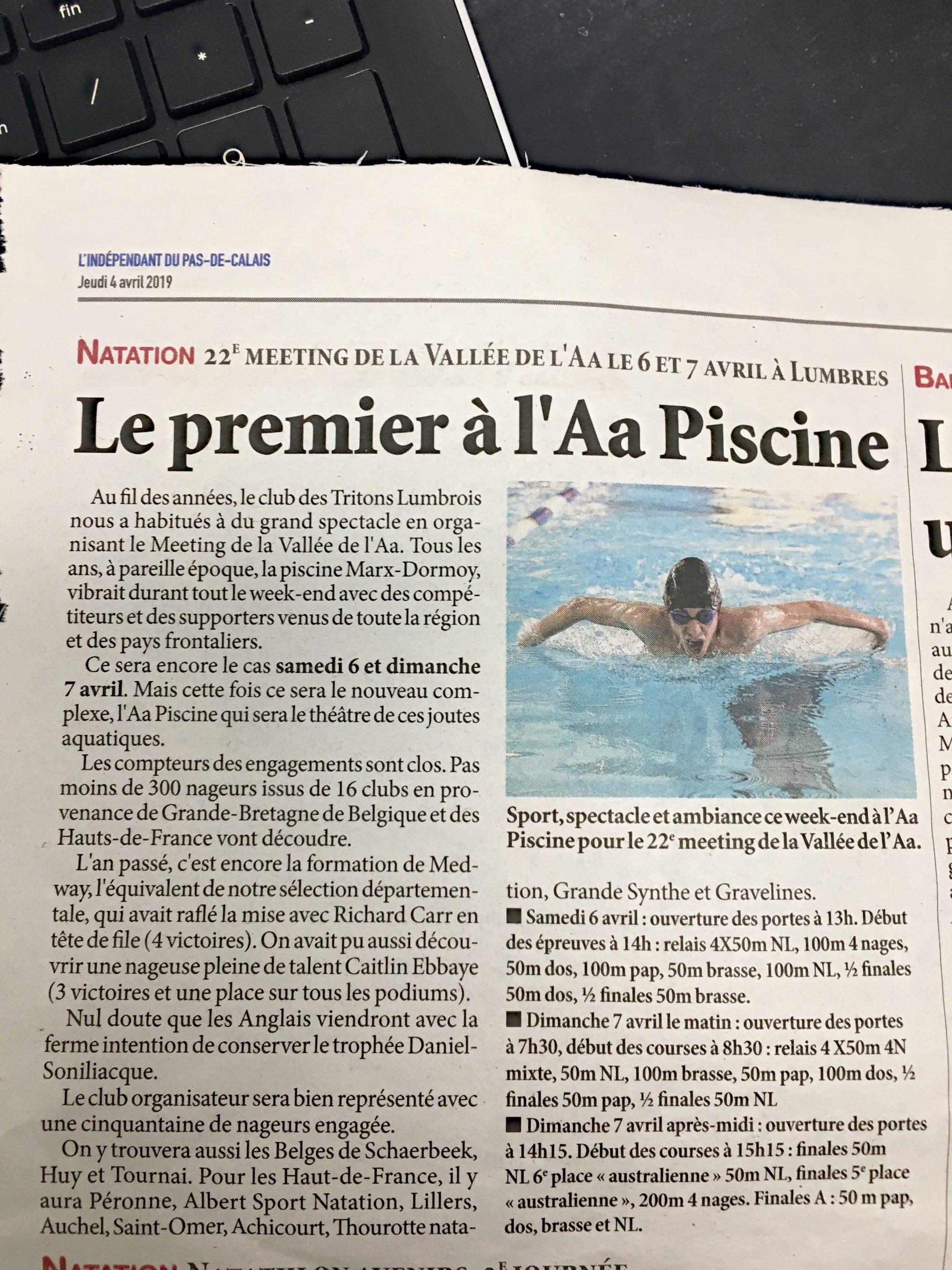 Les Tritons Lumbrois - Saison 2018-2019 // Propulsé Par ... intérieur Piscine De Lumbres