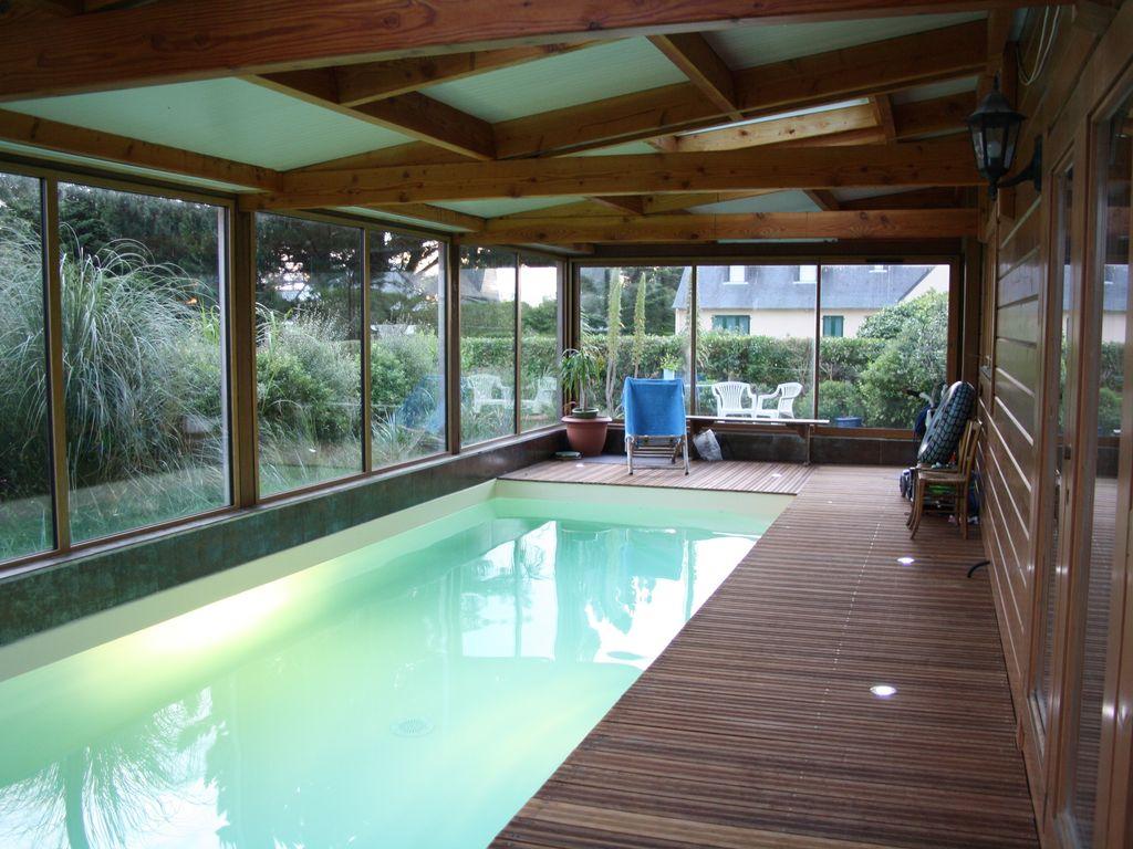 Les Villas D'onalou Port Blanc ,grande Et Chaleureuse Maison En Bois  Piscine - Penvénan serapportantà Location Maison Piscine Intérieure