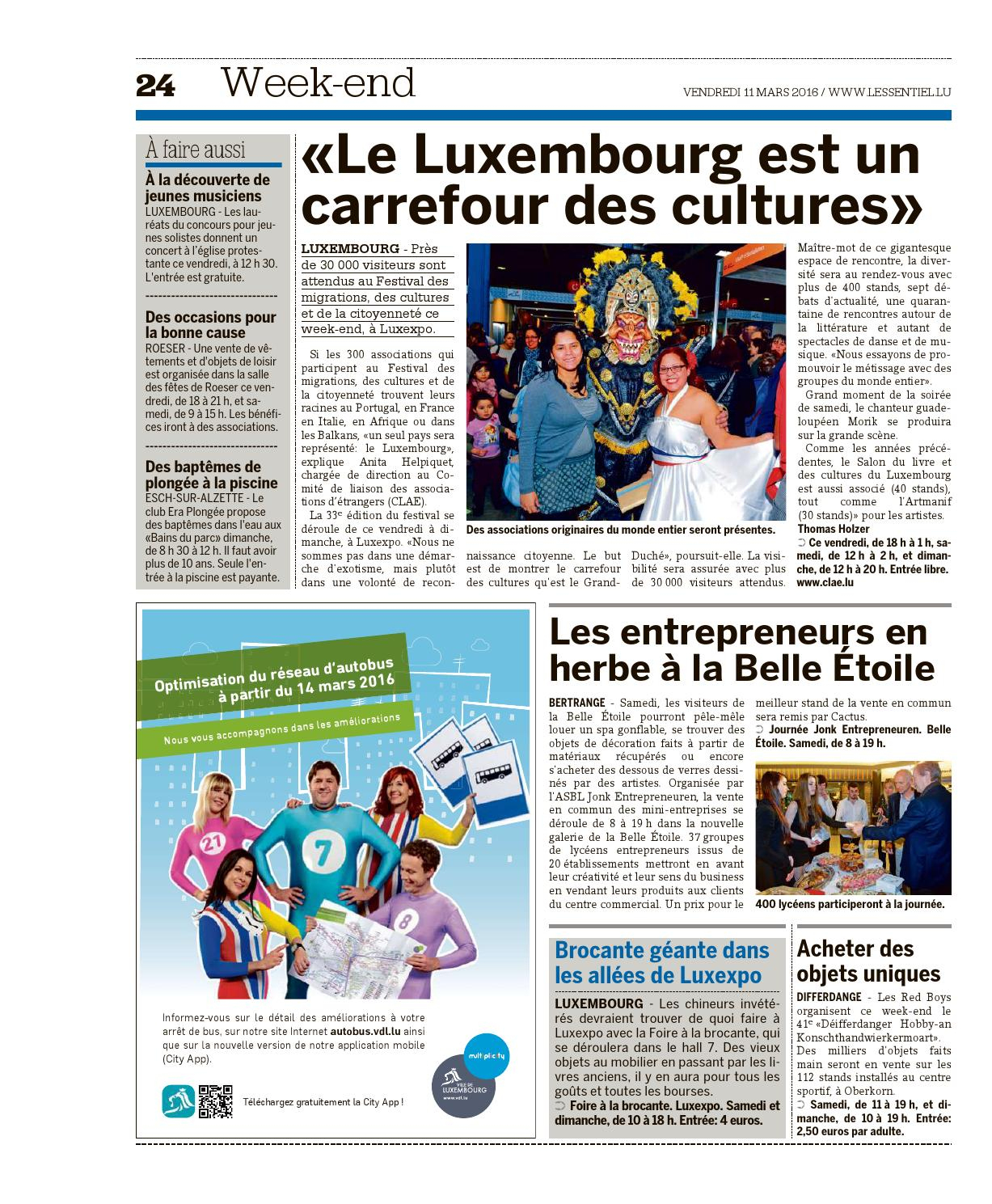 L'essentiel Epaper 2016-03-11 By L'essentiel - Issuu à Piscine Oberkorn