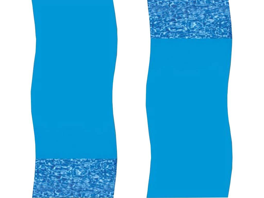 Liner Overlap Swirl Piscine Hors-Sol Ronde Ø4,57M concernant Liner Piscine Hors Sol Ronde