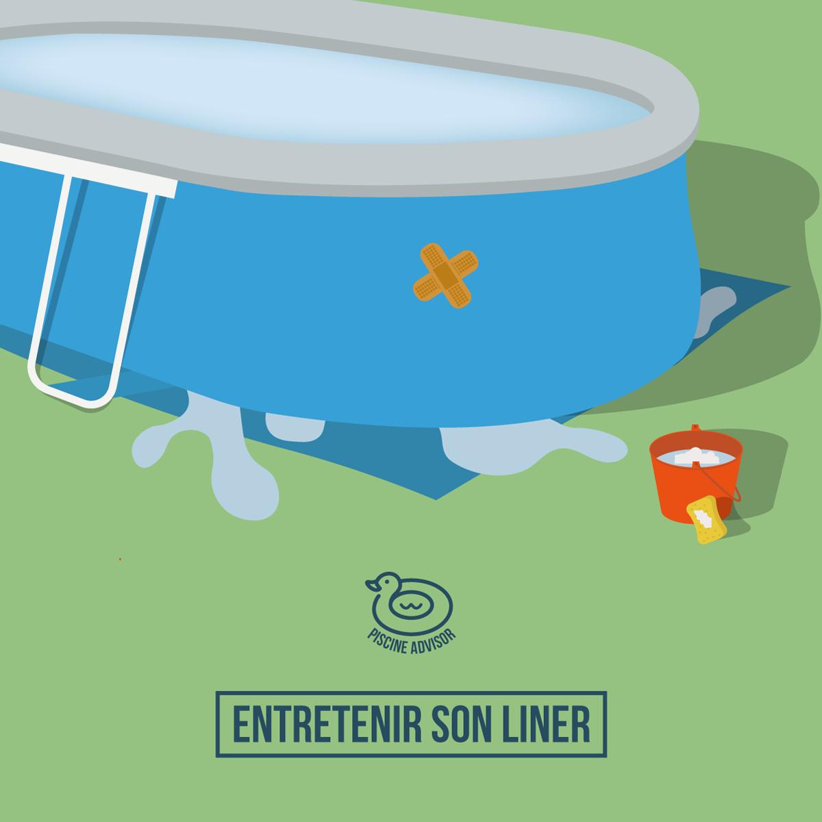 Liner Piscine Hors Sol: Entretien Et Prévention Des Fuites ... dedans Rustine Pour Piscine