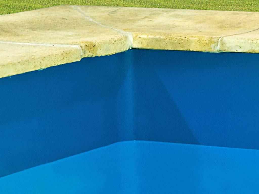 Liner Uni Bleu Overlap Procopi 35/100Eme Piscine Hors-Sol Ronde 6.40M X  1.20M serapportantà Liner Piscine Hors Sol Ronde