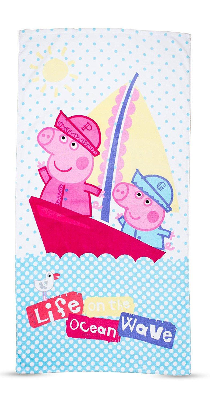 Linge De Bain Drap De Plage Peppa Pig 70X140 09009 ... tout Peppa Pig À La Piscine