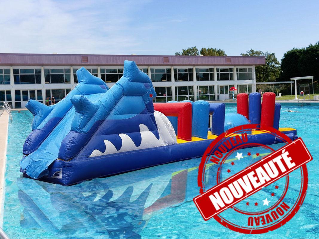 Location De Jeux Aquatiques Gonflables - Attractions 2000 ... dedans Toboggan Gonflable Pour Piscine