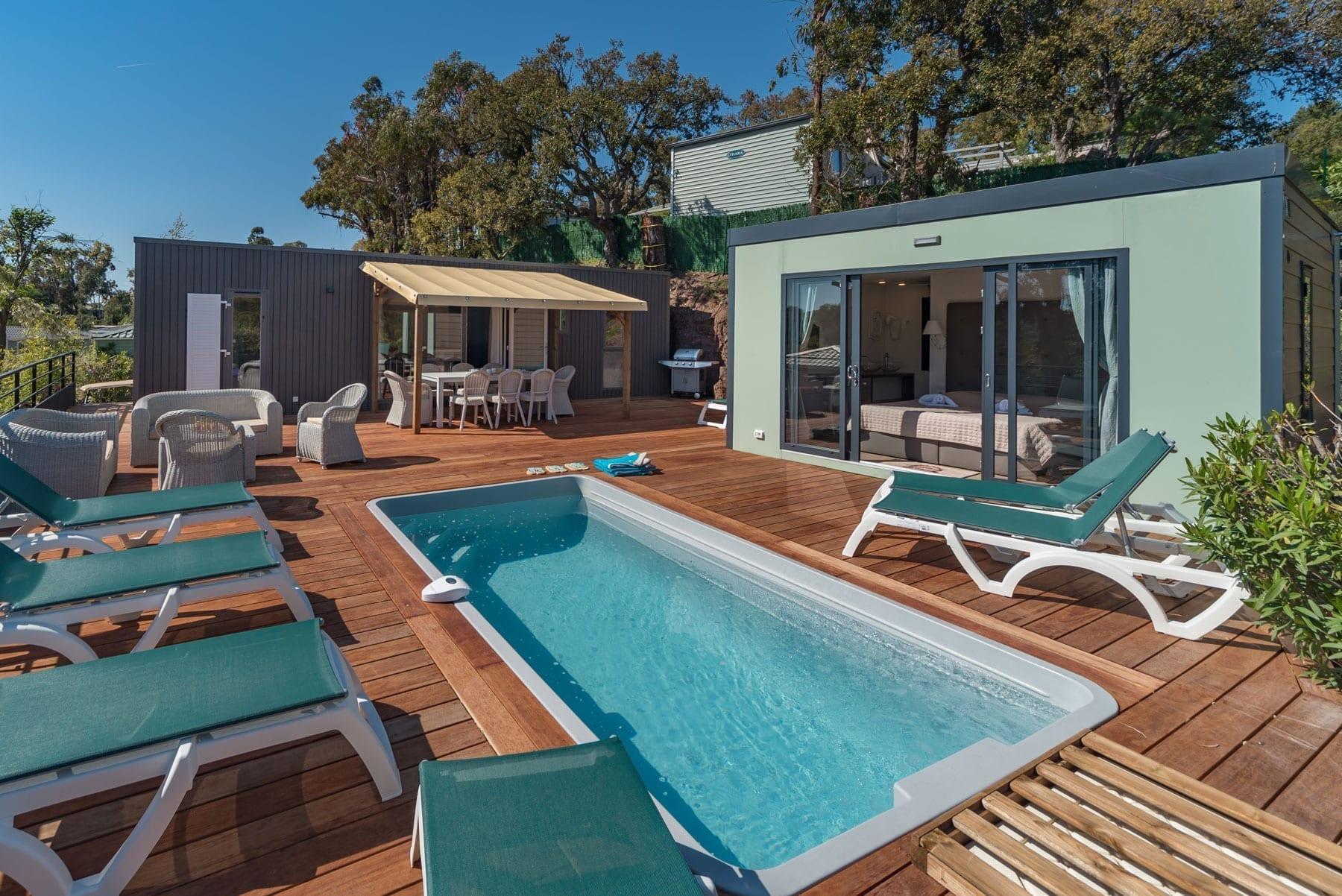Location Mobil Home Luxe Avec Piscine Privative Var | 7 À 8 ... encequiconcerne Camping Car De Luxe Avec Piscine