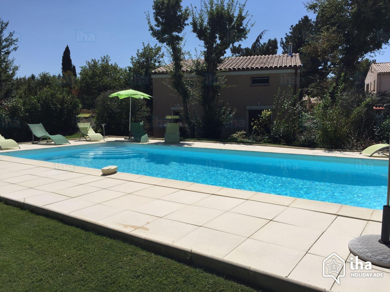 Location Villa De 1 À 6 Personnes Avec 3 Chambres intérieur Piscine Saint Vallier