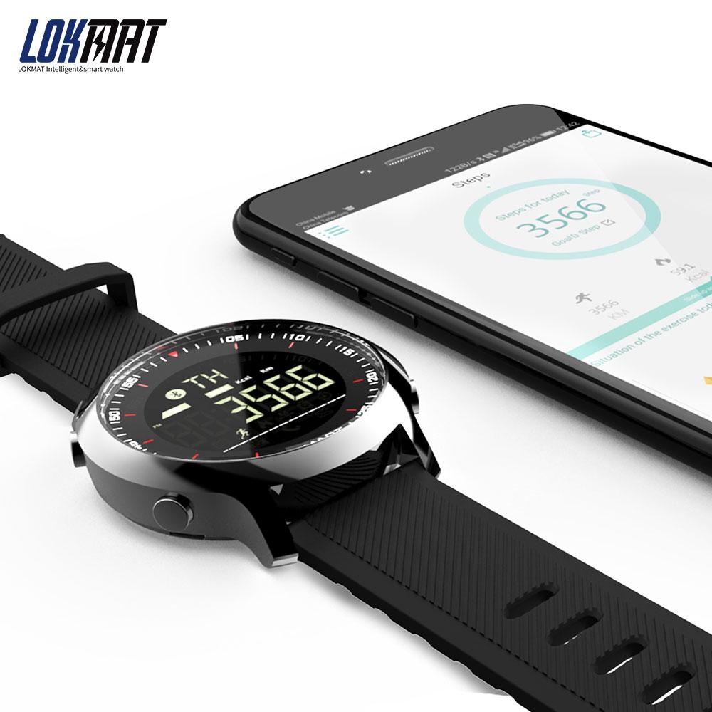 Lokmat Montre Connectée Sport Étanche Podomètres Bluetooth Piscine  Extérieure Hommes Montre Intelligente Ios Android destiné Montre Piscine