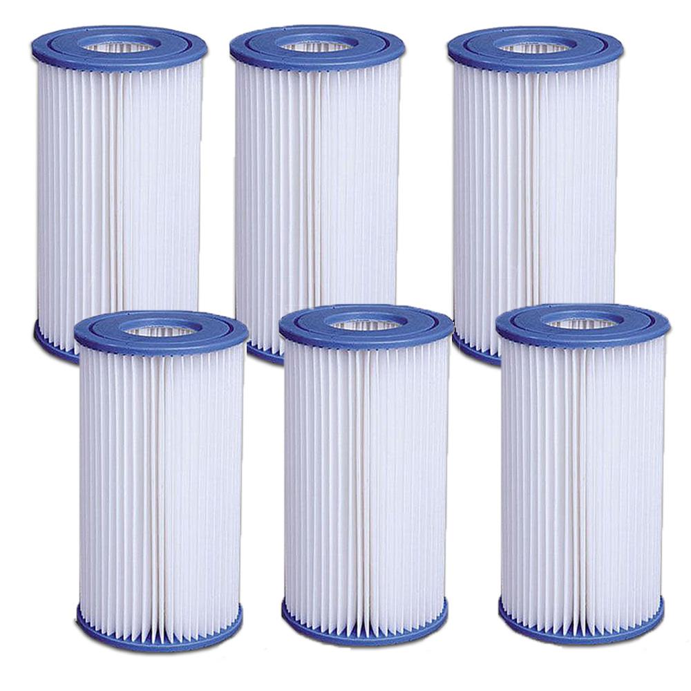 Lot De 6 Filtres Pour Pompe 3,8 Et 6M3 Jilong destiné Pompe Piscine Intex 6M3