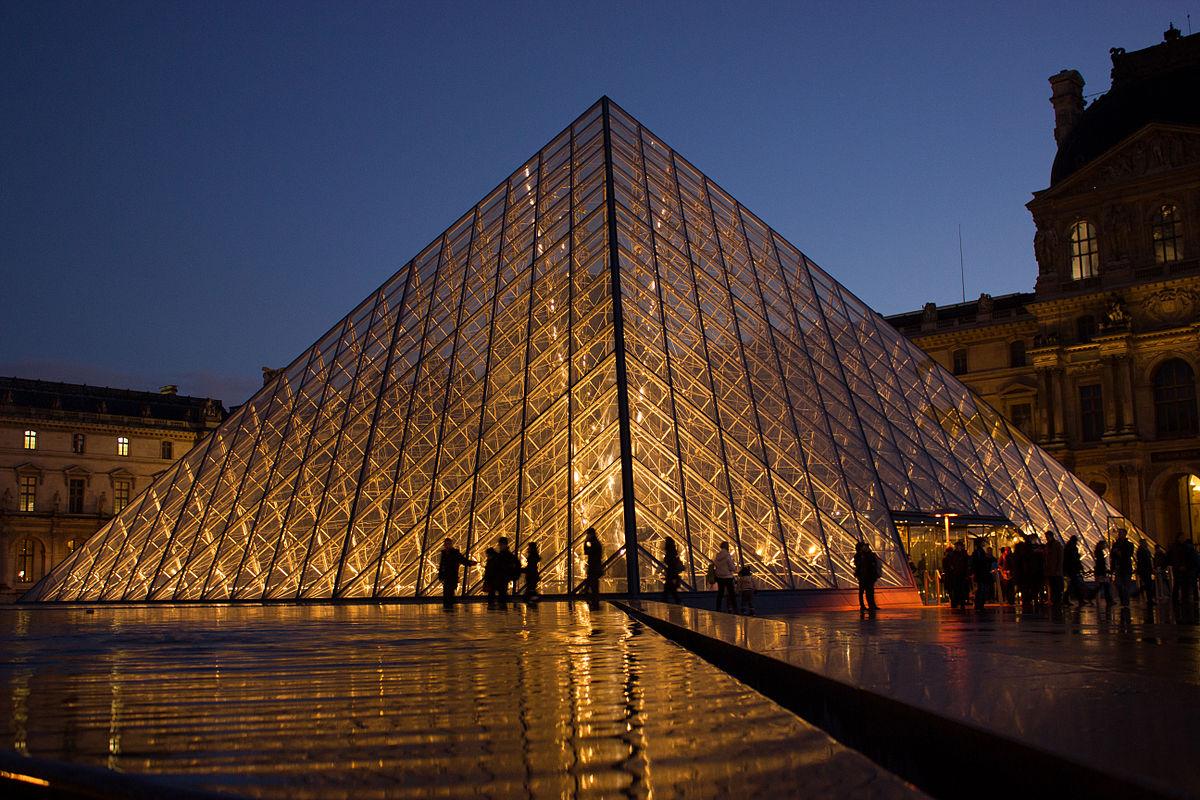 Louvre Pyramid - Wikipedia destiné Piscine Square Du Luxembourg