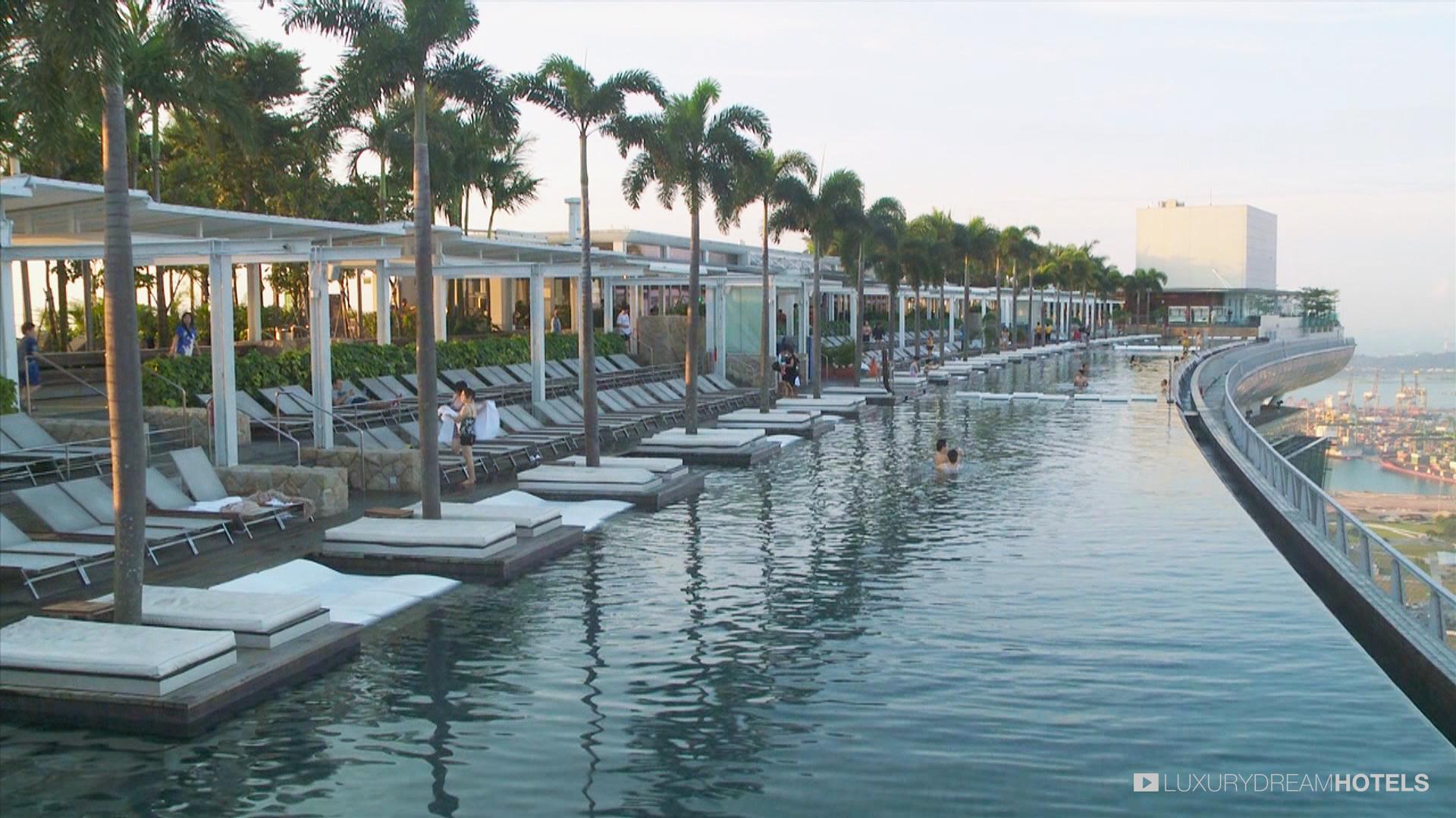 Luxury Hotel, Marina Bay Sand Hotel, Singapour, China ... destiné Piscine Singapour
