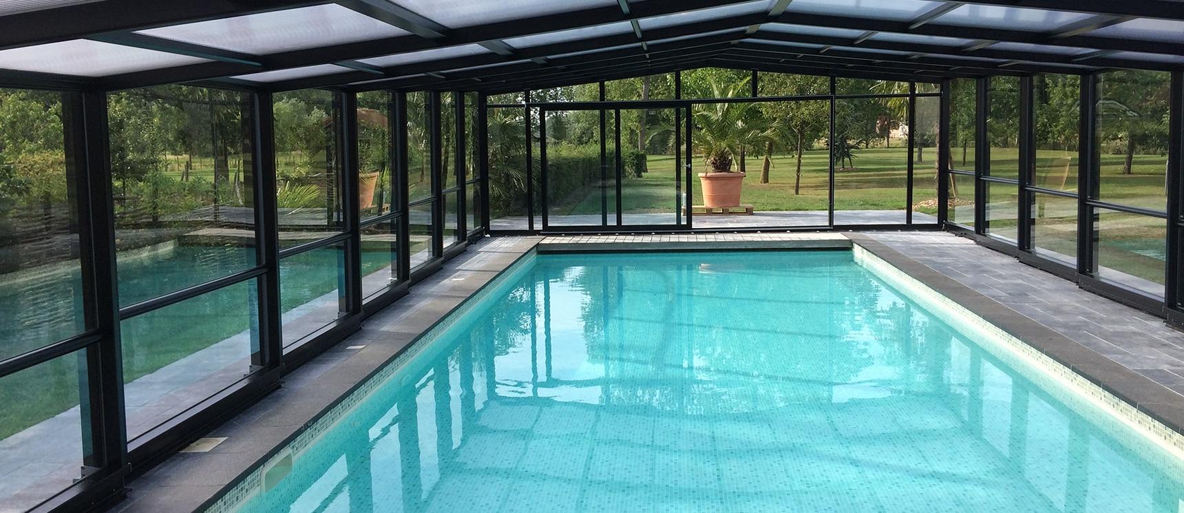 Maestro High Level Pool Enclosure - Telescopic High Level ... pour Piscine Epdm