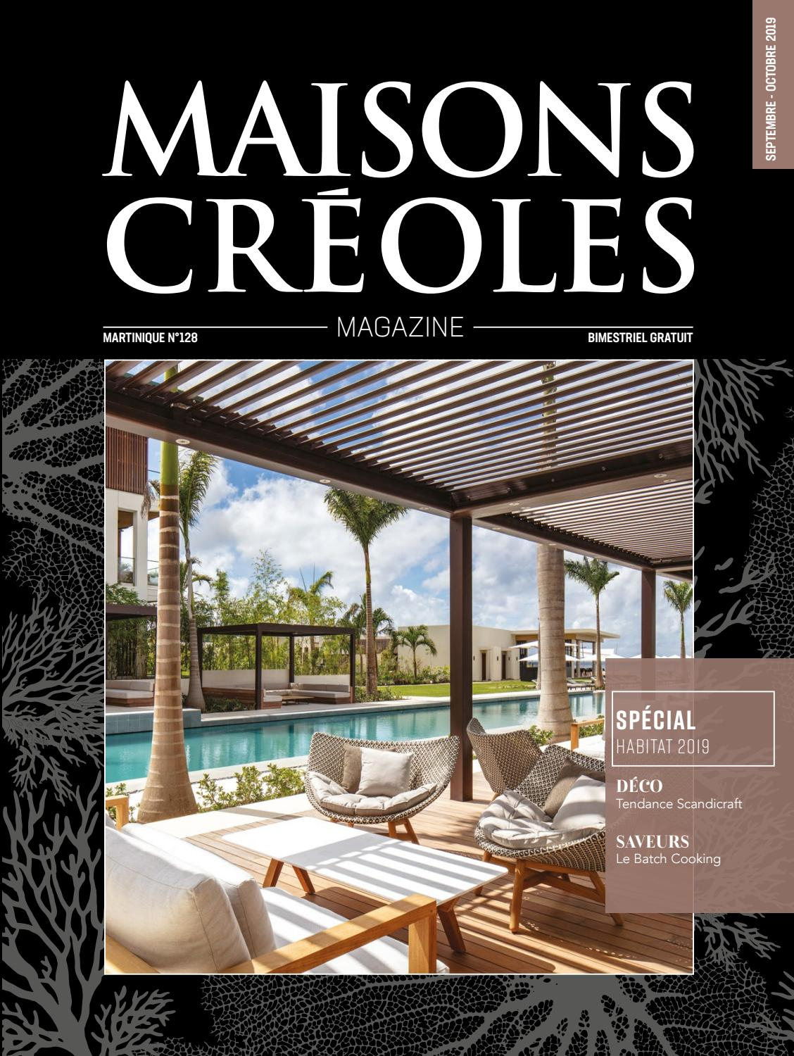 Magazine Maisons Créoles N°128 Martinique By Magazine ... encequiconcerne Dimension Piscine Non Imposable