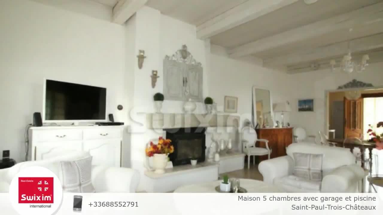 Maison 5 Chambres Avec Garage Et Piscine concernant Piscine Saint Paul Trois Chateaux