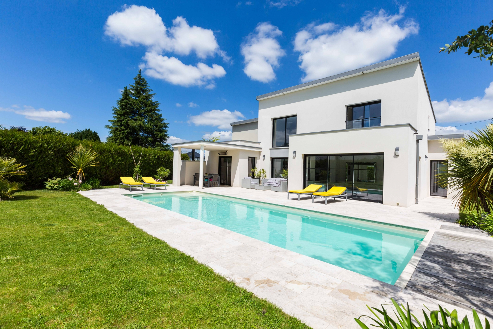 Maison Architecte Cesson Sevigne 190 M2, 5 Chambres | Blot ... avec Piscine Cesson Sevigne
