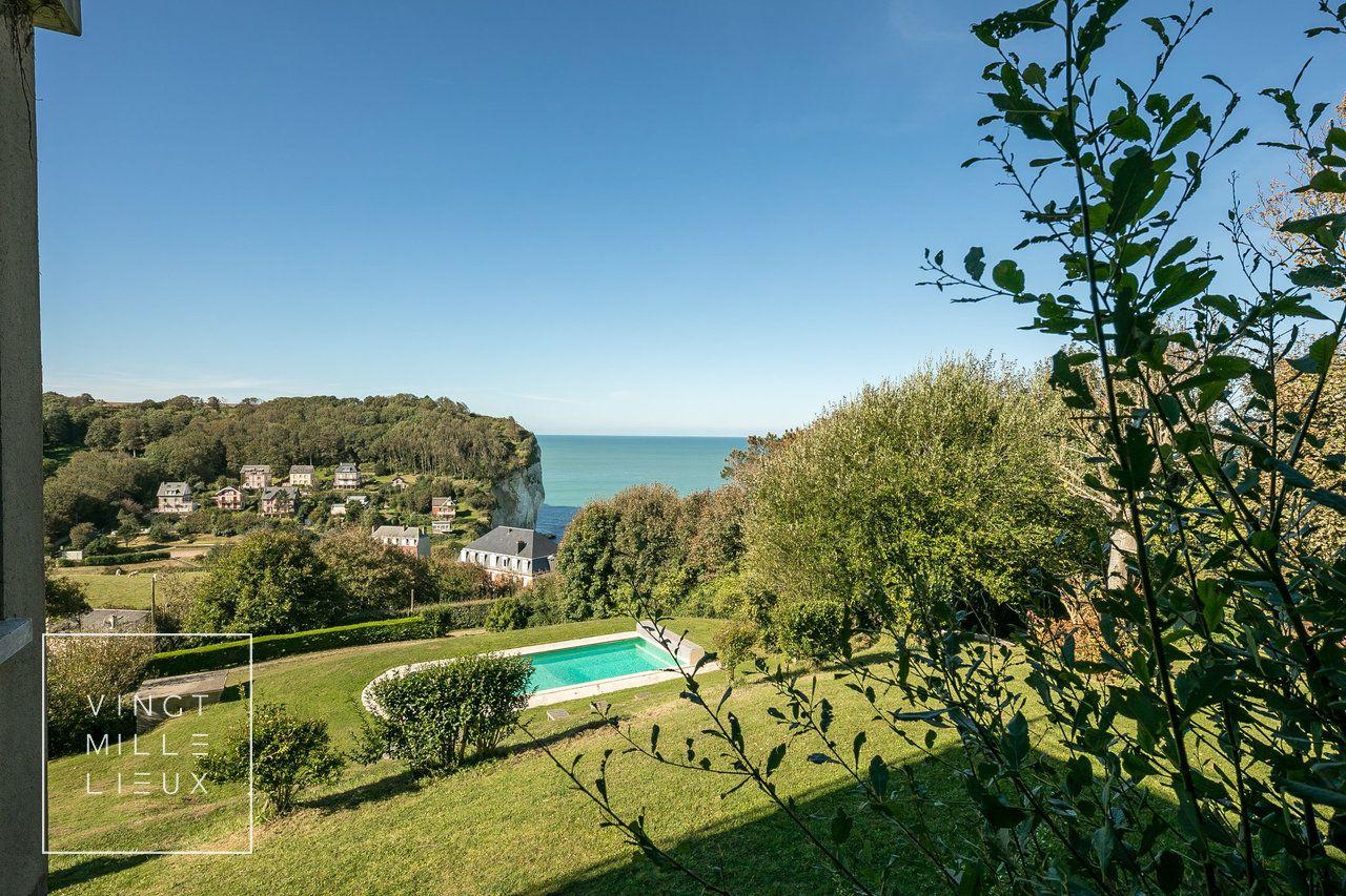Maison Avec Vue À 180° Sur La Mer, La Falaise, La Campagne ... encequiconcerne Piscine Falaise