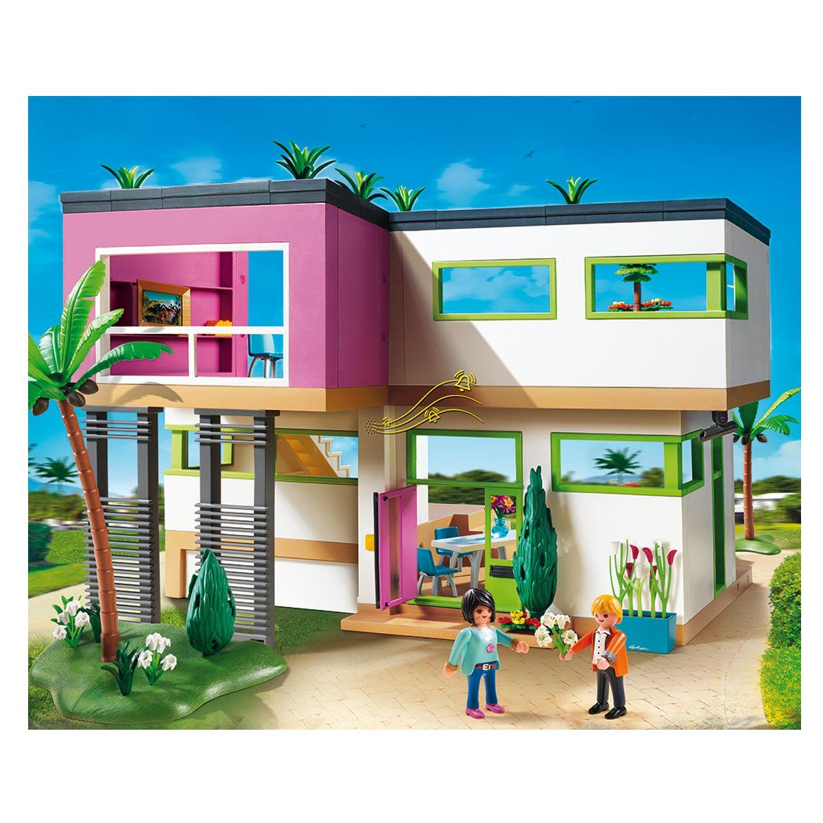 Maison Moderne Playmobil City Life - 5574 - Mini-Univers ... encequiconcerne Piscine Playmobil 5575