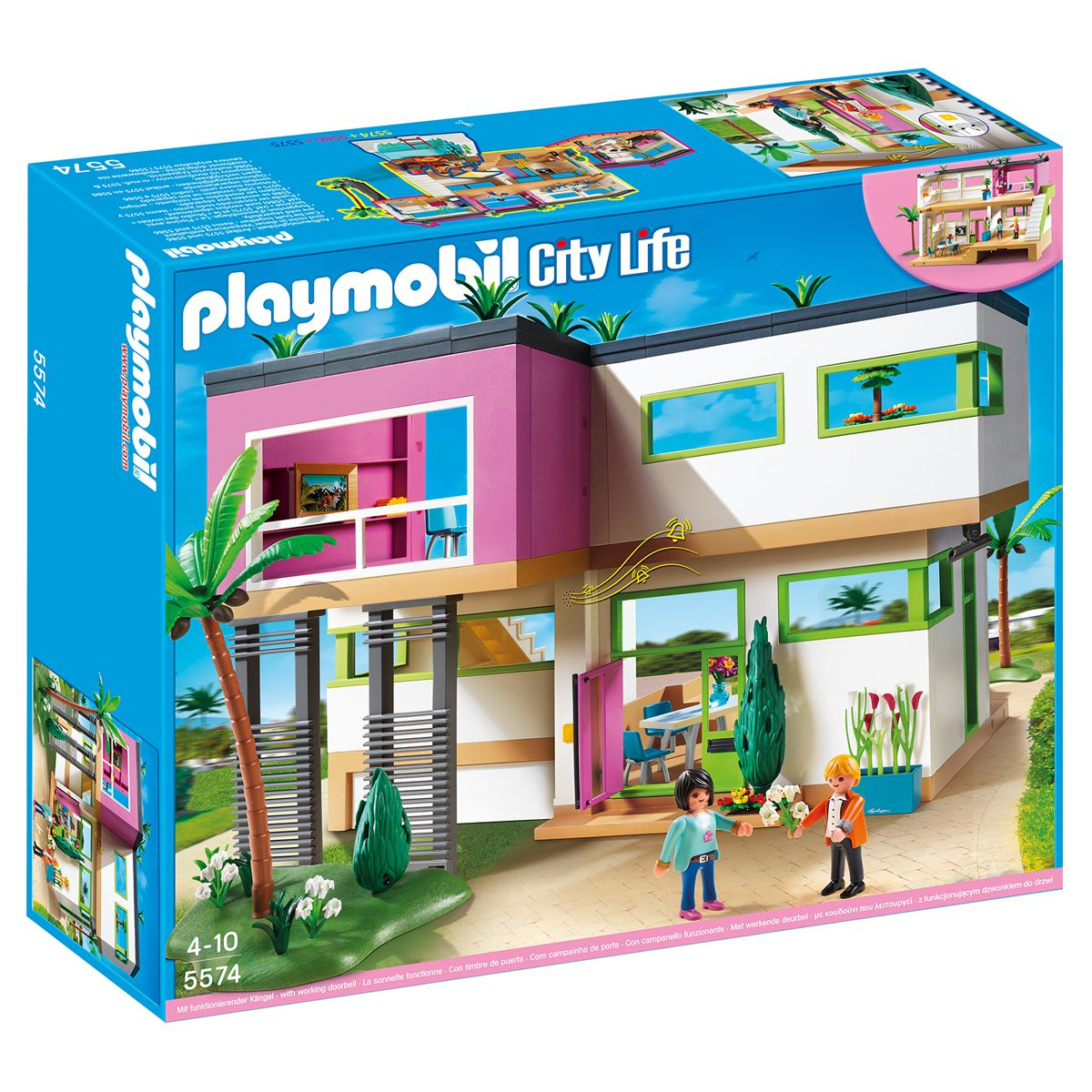Maison Moderne Playmobil City Life - 5574 - Mini-Univers ... pour Piscine Playmobil 5575