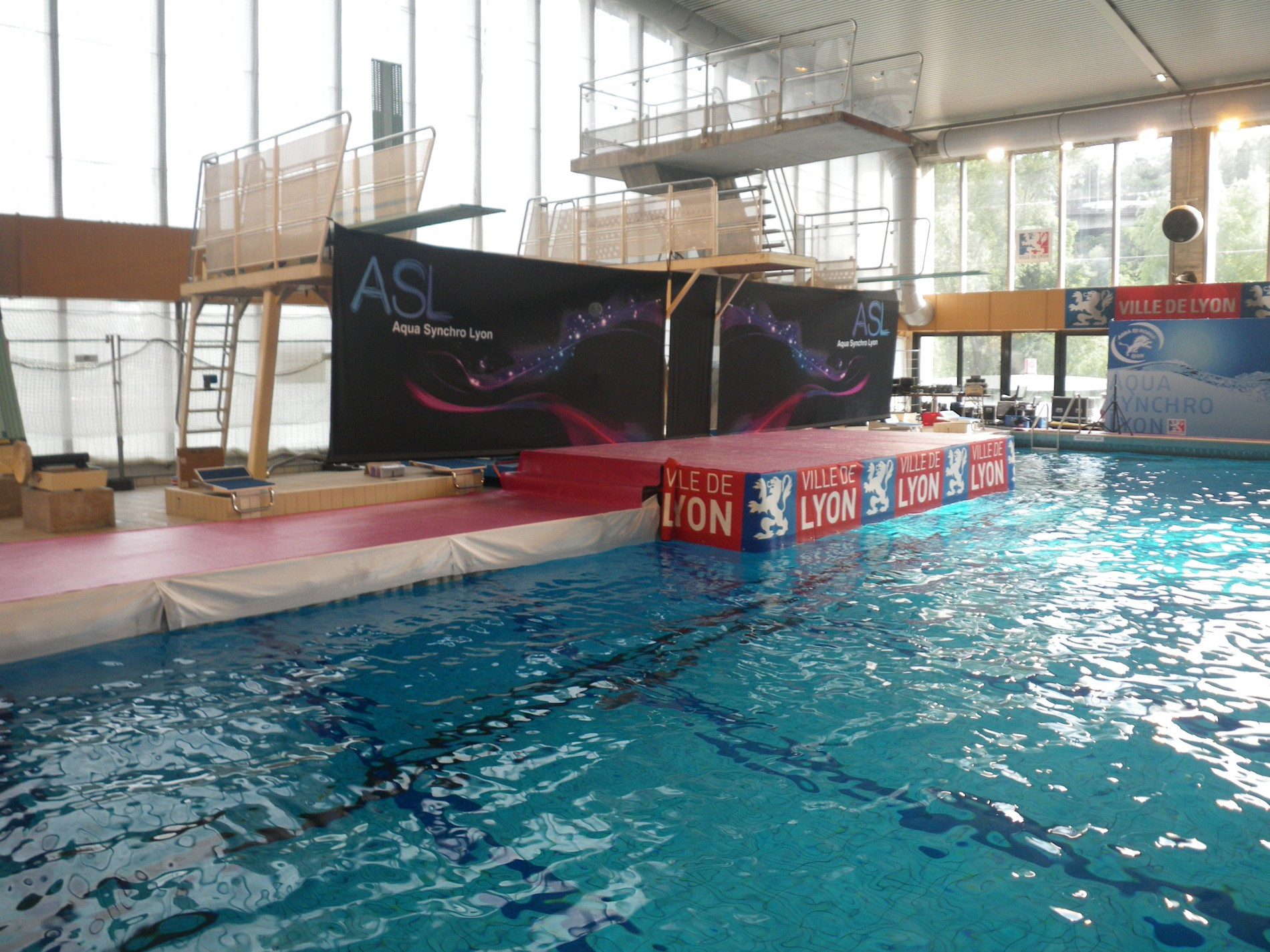 Marinefloor-Lyon-Piscine De Vaise Championnats De Natation ... à Piscine De Vaise