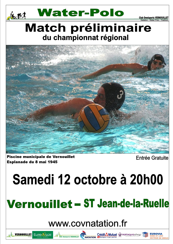 Match Préliminaire En Championnat Régional : Match Retour ... tout Piscine St Jean De La Ruelle