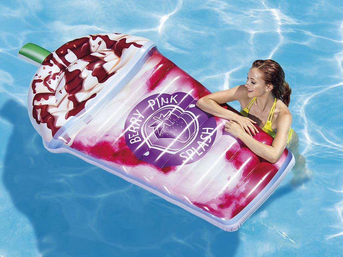 Matelas De Piscine Milk Shake Chantilly - Intex dedans Matelas Piscine Intex