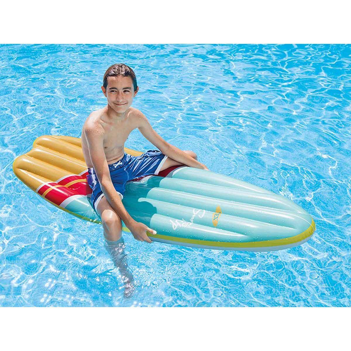 Matelas De Piscine Surf - Intex - Taille : Taille Unique ... pour Matelas Piscine Intex