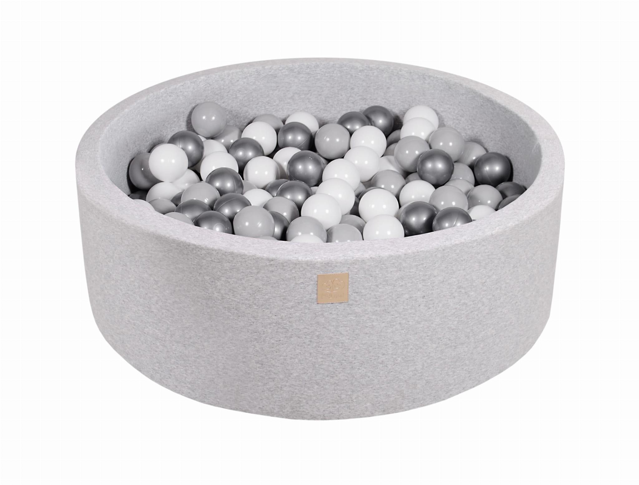 Meowbaby® Piscine À Balles Pour Bébé 200 Balles, Gris Clair destiné Piscine À Balles Bébé