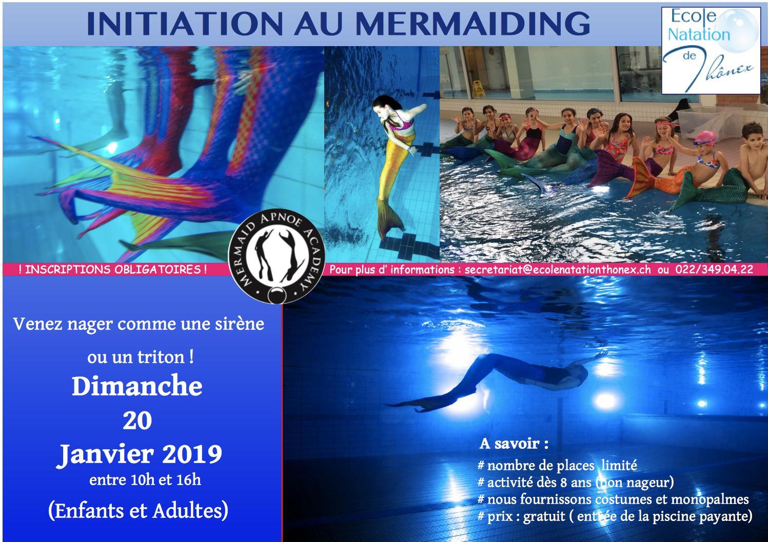 Mermaiding - Ecole Natation Thonex tout Piscine Thonex