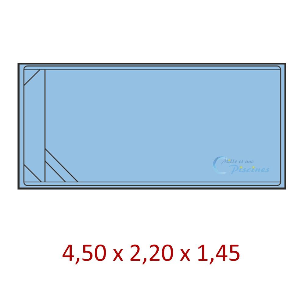 Mini Piscine Coque Rectangulaire - Mille Et Une Piscines intérieur Coque Mini Piscine