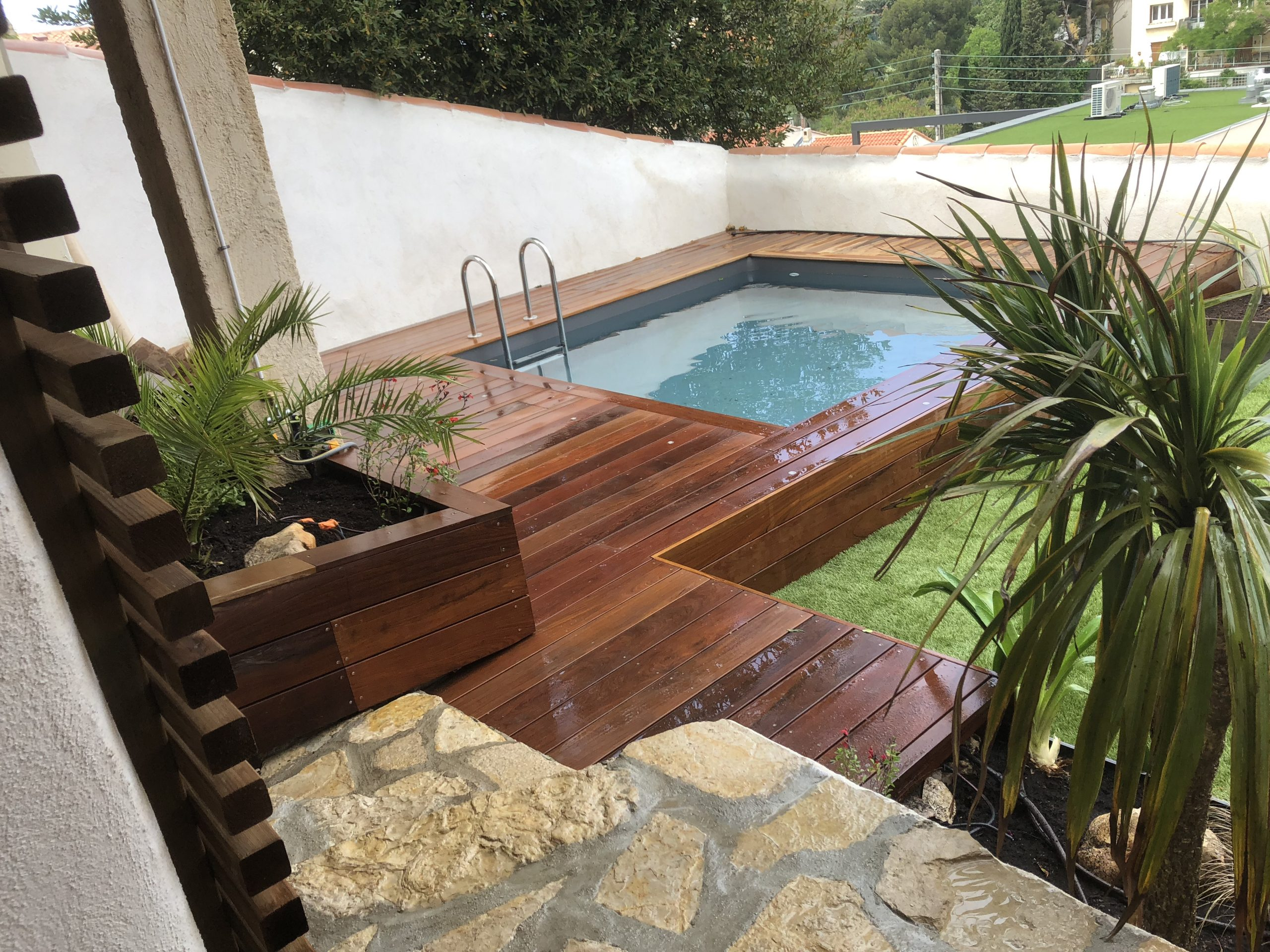 Mini Piscine Hors-Sol - Terrasse Composite | Vercors Piscine tout Impot Piscine Hors Sol