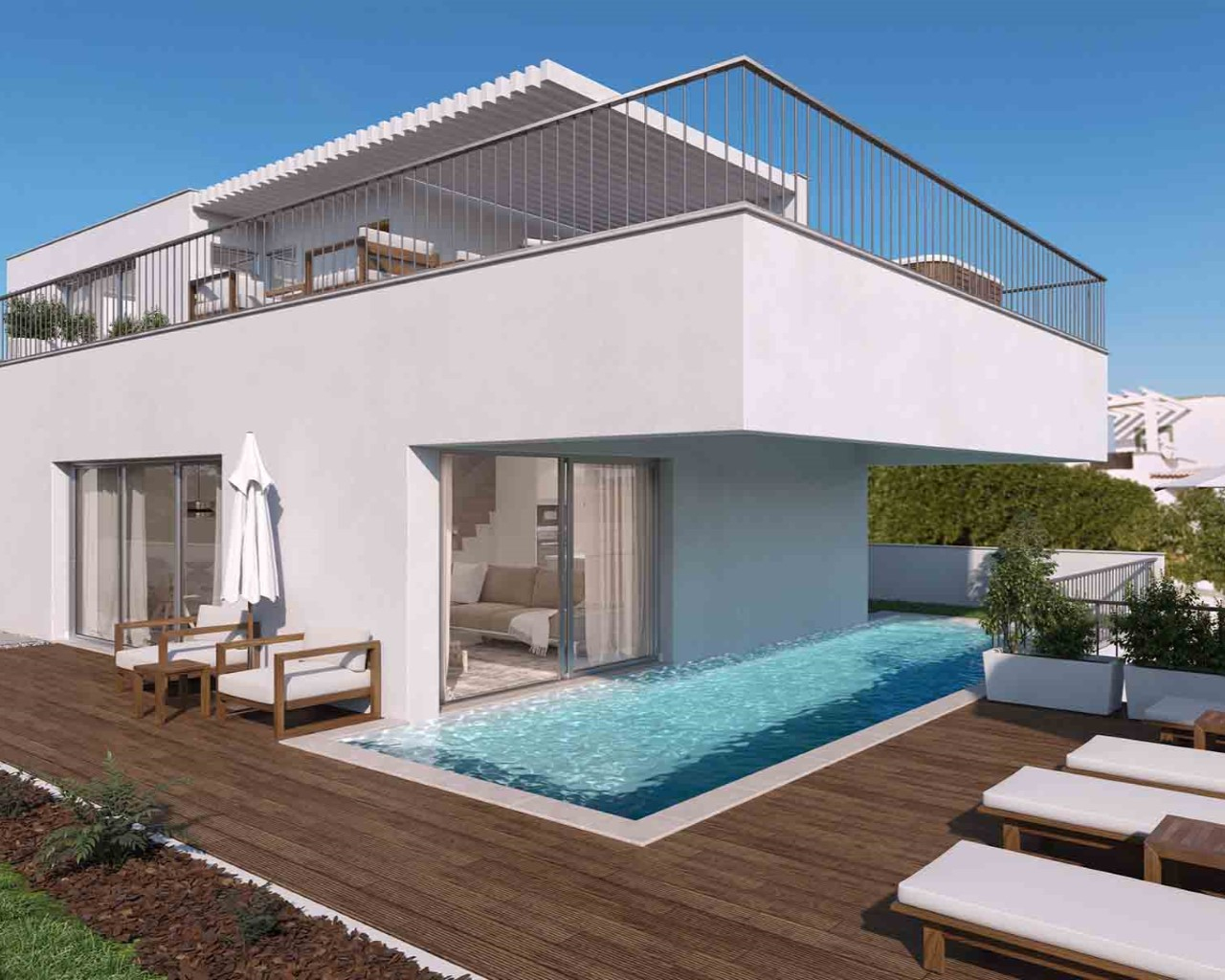 Modernt Boende I Ferragudo Med Egen Pool tout Location Maison Portugal Piscine