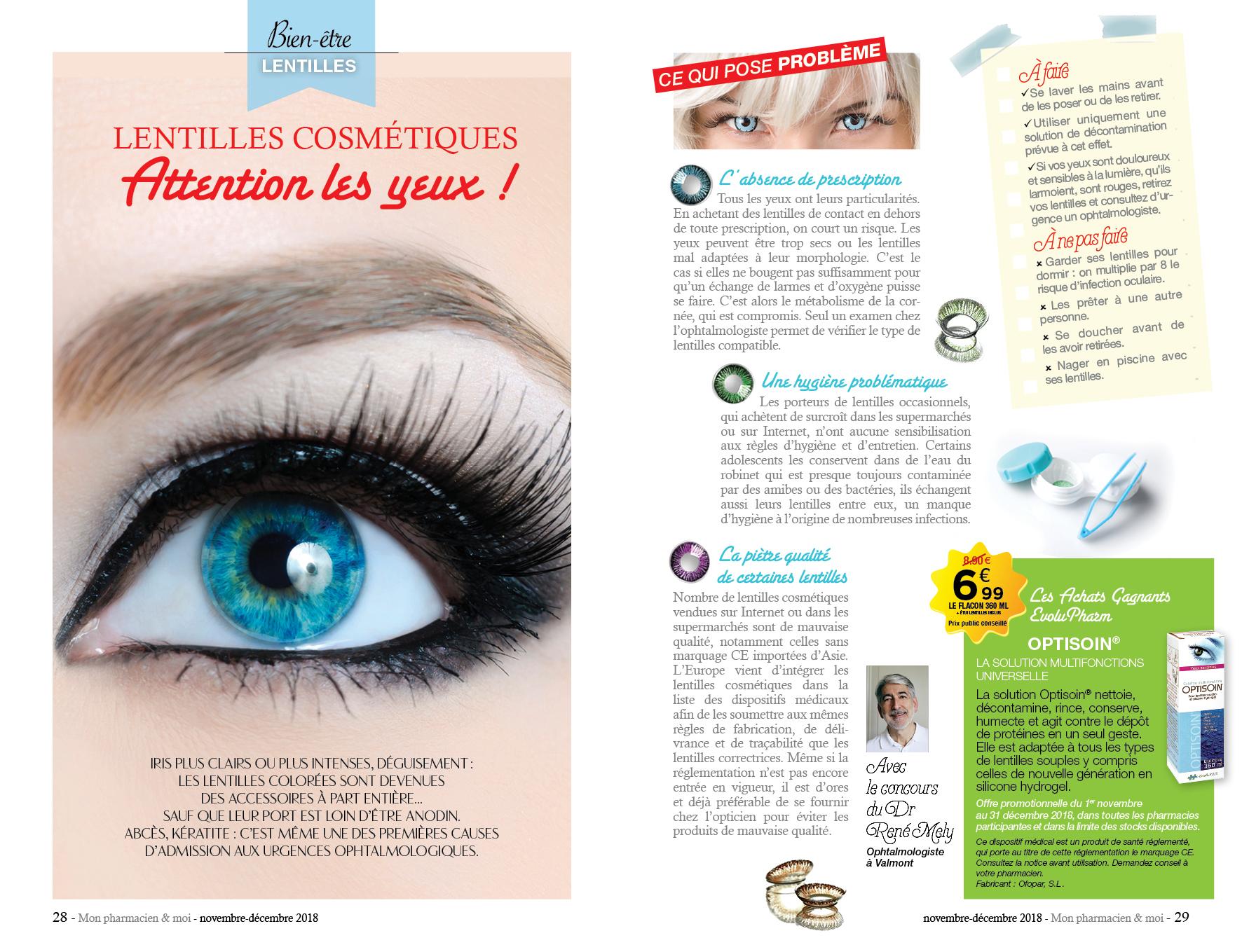 Mon Pharmacien & Moi // Edition Presse – Camille Levrier destiné Lentilles Piscine