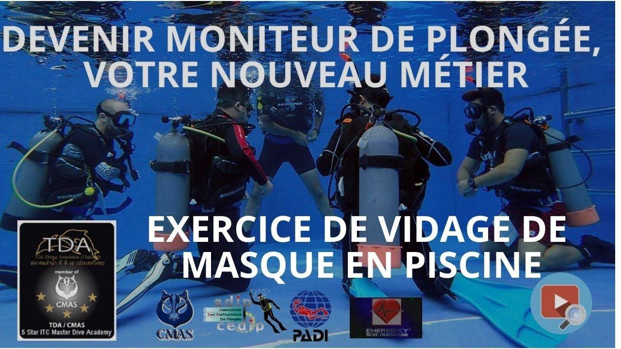 Monitorat, Exercice De Vidage De Masque En Piscine, Une ... intérieur Formation Pisciniste