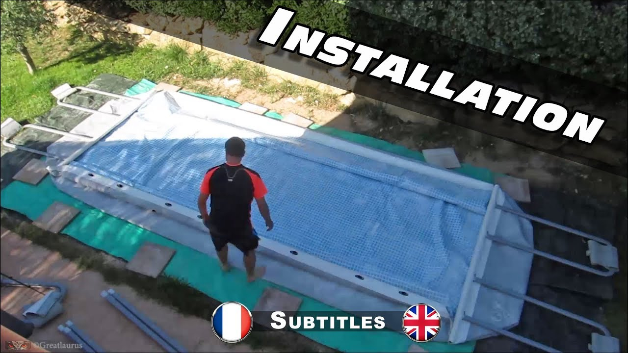 Montage De Ma Piscine Intex Ultra Frame Rectangulaire tout Piscine 4X2