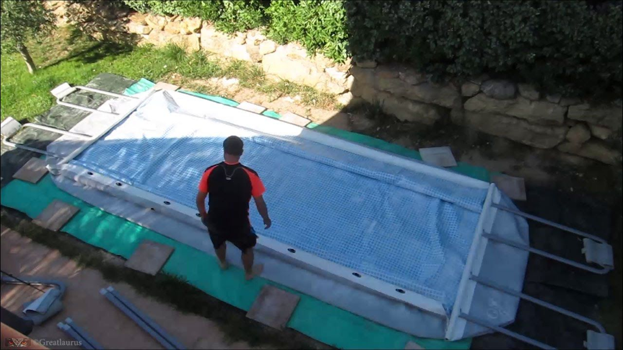 Montage De Ma Piscine Intex Ultra Frame Rectangulaire ... tout Piscine Intex Ultra Frame