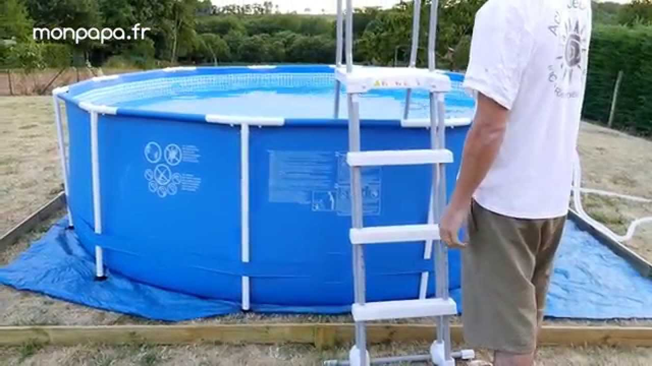 Montage D'une Piscine Tubulaire Intex encequiconcerne Piscine Intex 3.66