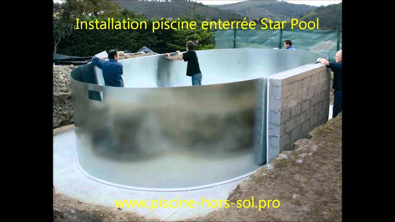 Montage Piscine Enterrée Star Pool Gre pour Piscine Hors Sol Gre
